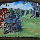 Turkey On Driftwood by WildestArt