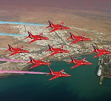 The Red Arrows - Diamond 9 by Colin  Williams Photography