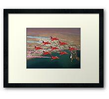 The Red Arrows - Diamond 9 Framed Print