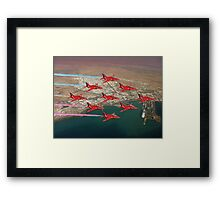 The Red Arrows - Diamond 9 Framed Print