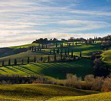 Serpentine Path, La Foce, Tuscany, Italy by Andrew Jones