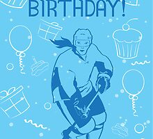 Hockey Birthday Card - Cupcakes Female by SaucyMitts