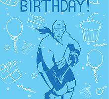 Hockey Birthday Card - Cupcakes Female by SaucyMitts