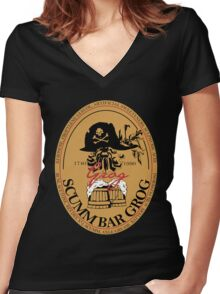 Grog, Is Good For You Women's Fitted V-Neck T-Shirt