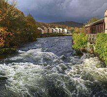 The River Leven from Backbarrow Bridge by Jamie  Green