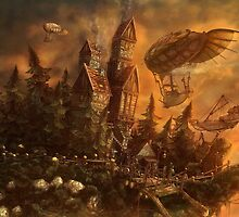 Steampunk Land by Glazey