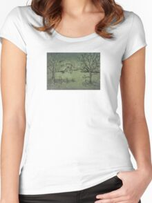 Snow of Christmas Women's Fitted Scoop T-Shirt