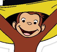 Funky Curious George Sticker