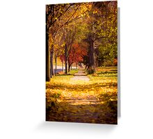 Autumn Arrives On My Block Greeting Card