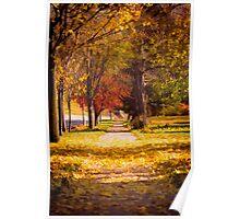 Autumn Arrives On My Block Poster