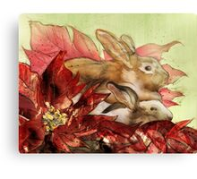 Christmas Bunnies Canvas Print