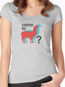 Como te llamas? Women's Fitted Scoop T-Shirt