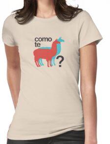 Como te llamas? Womens Fitted T-Shirt
