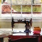 Farm House With Sewing Machine by Susan Savad
