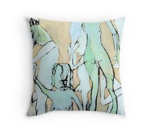 pale nudes Throw Pillow