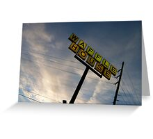 Waffle House Sunset Greeting Card