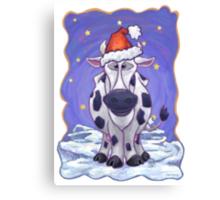 Cow Christmas Canvas Print