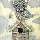 Blue Owl Birdhouse II by © Karin (Cassidy) Taylor
