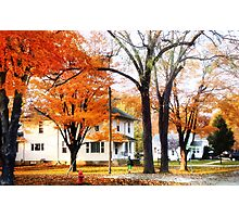 The Falling Leaves Photographic Print