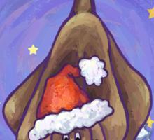 Hound Dog Christmas Sticker