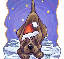 Hound Dog Christmas Card by Traci VanWagoner