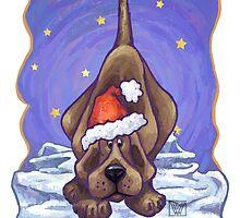 Hound Dog Christmas Card by Traci VanWagoner