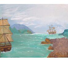 Old sailing ships. Photographic Print