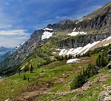 Goat Trail in the Rocky Mountains by Kathleen Bishop