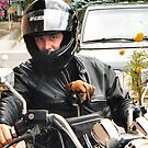Boxer Puppy Motorcycle Pal by SpiceTree