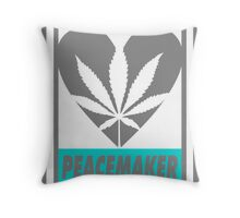Budding Hearts - Peacemaker, Print Inverted Grey Throw Pillow
