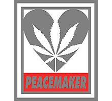 Budding Hearts - Peacemaker, Print Inverted Grey Red Photographic Print
