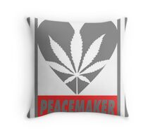 Budding Hearts - Peacemaker, Print Inverted Grey Red Throw Pillow