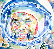 YURI GAGARIN - watercolor portrait by lautir