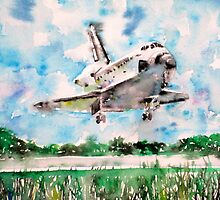 SPACE SHUTTLE LANDING by lautir
