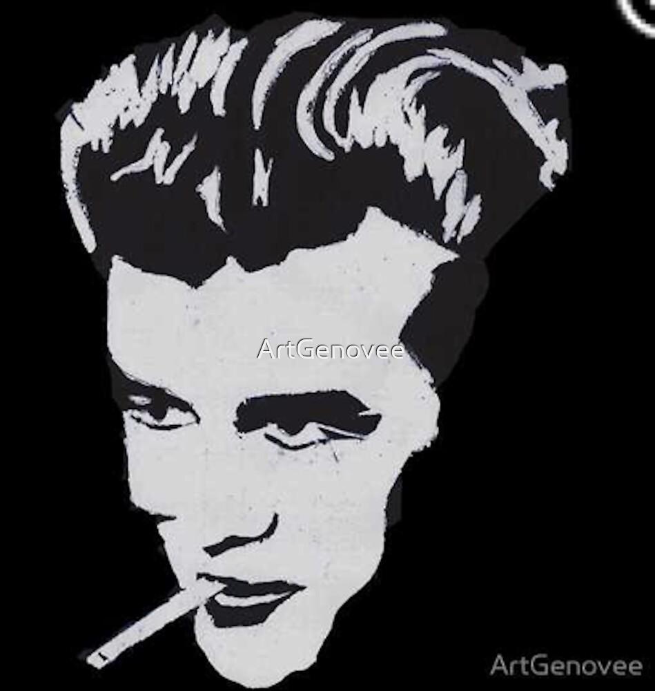 James Dean Smile - by Genovee by ArtGenovee