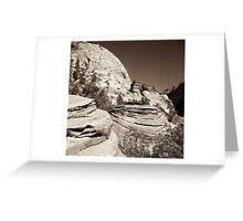 yosemite rocks Greeting Card