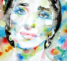 MARIA CALLAS - watercolor portrait by lautir
