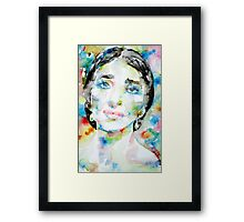 MARIA CALLAS - watercolor portrait Framed Print