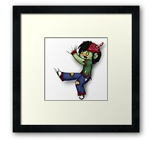 Zombie Hitchhiker Framed Print