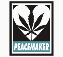 Budding Hearts - Peacemaker, Logo Big Text Inverted by alexcaughtfire