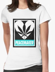 Budding Hearts - Peacemaker, Logo Big Text Inverted Womens Fitted T-Shirt