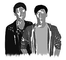 Dan & Phil | 50 shades of grey Photographic Print