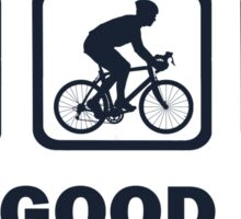 Coffee Cycling Beer The Good Life Sticker
