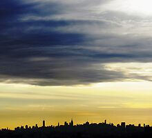 New York City Silhouette by Alberto  DeJesus