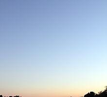 Sunset Moonrise by Carol Bailey White