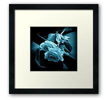 Twins With The Blues Framed Print