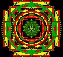 Sri Yantra Healing Mandala by shoffman