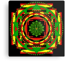 Sri Yantra Healing Mandala Metal Print