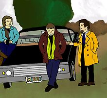 Team Free Will as Mystery Inc. by visualsplat