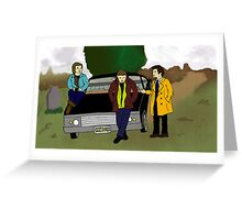 Team Free Will as Mystery Inc. Greeting Card